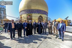 Restoration Work of Imam Ali Shrine's Minarets Almost Over